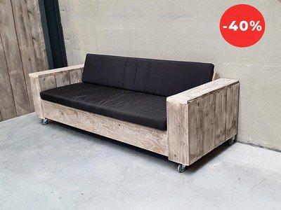 Loungebank ORIGINAL + WIELTJES 180 + Black