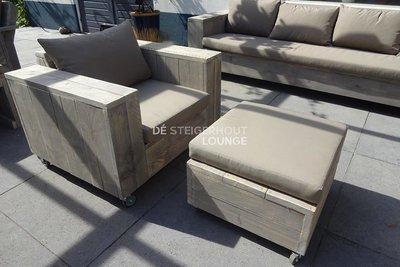 loungestoel-steigerhout
